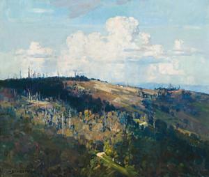 Art Prints of Mernda Hill by Arthur Streeton