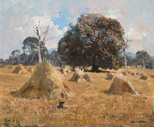 Art Prints of Oak Harvest by Arthur Streeton