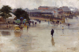 Art Prints of The Railway Station, Redfern by Arthur Streeton