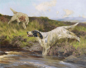 Art Prints of Crossing the Burn by Arthur Wardle