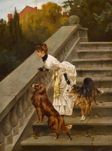 Art Prints of Waiting for Master by Arthur Wardle