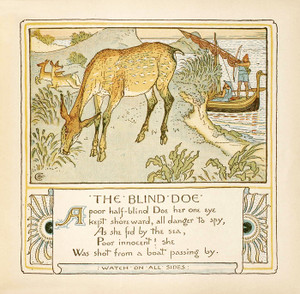 "Art Prints of The Blind Doe ""Watch on All Sides"", Aesop's Fables"
