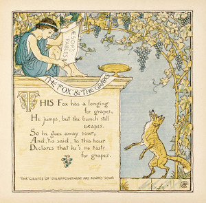 Art Prints of The Fox and the Grapes, Aesop's Fables