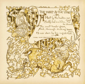 Art Prints of The Hart and the Vine, Aesop's Fables