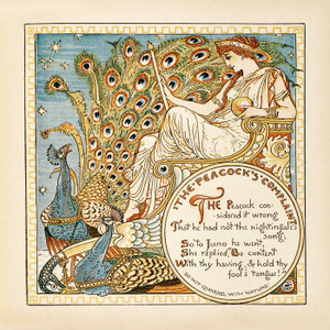 Art Prints of The Peacock's Complaint, Aesop's Fables