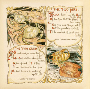Art Prints of The Two Crabs & The Two Jars, Aesop's Fables