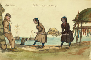 Art Prints of Icelandic Man and Women Working, 1862 (22892L) by Bayard Taylor