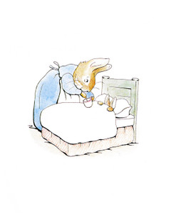 Art Prints of Mrs. Rabbit Gives Peter Rabbit Soup by Beatrix Potter