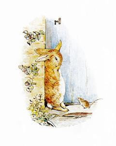 Art Prints of Peter Cries at the Door by Beatrix Potter