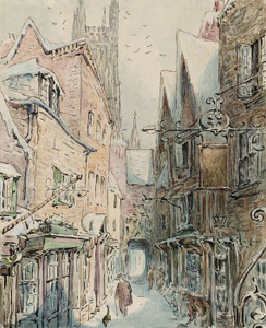 Art Prints of The Tailor and Simpkin Head out for the Shop by Beatrix Potter