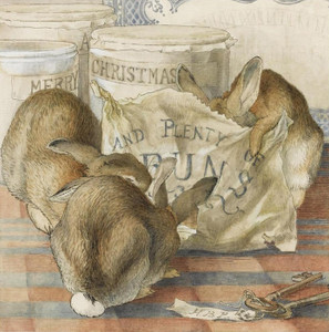 Art Prints of Three Bunnies Eating Plenty of Buns by Beatrix Potter
