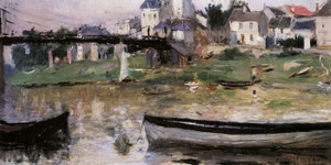 Art Prints of Boats on the Seine by Berthe Morisot