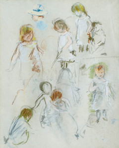 Art Prints of Figure Study of a Girl in a Garden by Berthe Morisot