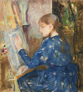 Art Prints of Girl Painting by Berthe Morisot