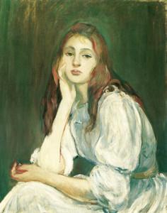 Art Prints of Julie Reveuse by Berthe Morisot