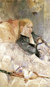 Art Prints of Little Girl with a Doll by Berthe Morisot