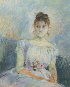 Art Prints of Paule Gobillard in a Ball Dress by Berthe Morisot