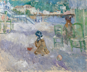 Art Prints of Plage de Nice or Beach in Nice by Berthe Morisot