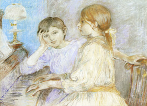 Art Prints of The Piano by Berthe Morisot