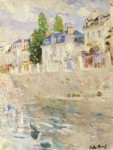 Art Prints of The Quay at Bougival by Berthe Morisot