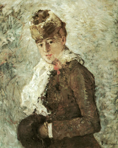 Art Prints of Woman with a Muff, Winter by Berthe Morisot