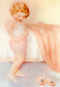 Art Prints of She's Learned to do so Many Things by Bessie Pease Gutmann