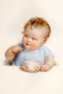 Art Prints of Tommy Eats All His Porridge by Bessie Pease Gutmann