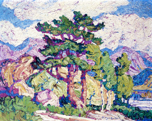 Art Prints of Aspens and Pines, Estes Park by Birger Sandzen