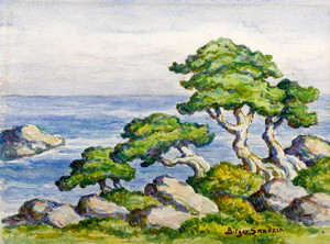 Art Prints of Cedars by the Sea, Carmel, California by Birger Sandzen