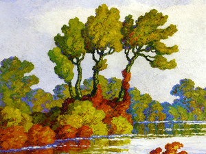 Art Prints of Autumn, Smoky Hill River, Kansas by Birger Sandzen