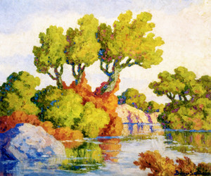 Art Prints of Kansas Landscape, Smoky Hill River by Birger Sandzen