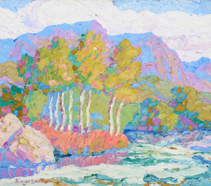 Art Prints of In Logan Canyon, Logan, Utah by Birger Sandzen