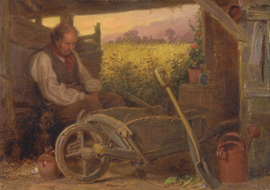 Art Prints of The Old Gardener by Briton Riviere