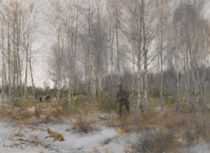 Art Prints of Fox Hunting by Bruno Liljefors