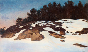 Art Prints of Winter landscape at Dawn by Bruno Liljefors