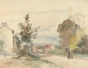 Art Prints of The Road from Versailles to Louveciennes by Camille Pissarro