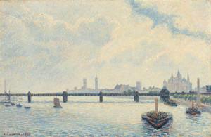 Art Prints of Charing Cross Bridge, London by Camille Pissarro