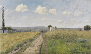 Art Prints of June Morning at Pontoise by Camille Pissarro