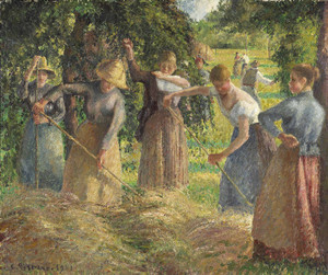 Art Prints of Hay Harvest at Eragny, 1901 by Camille Pissarro