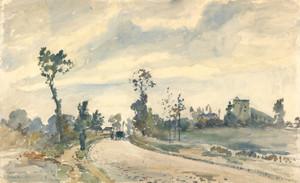 Art Prints of Louveciennes Route de Saint Germain by Camille Pissarro