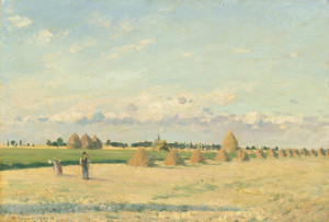 Art Prints of Landscape, Ile de France by Camille Pissarro