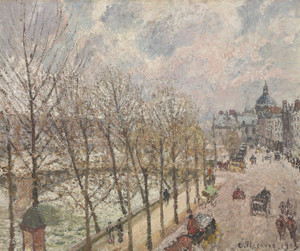 Art Prints of The Quai Malaquais and Institute, 1903 by Camille Pissarro