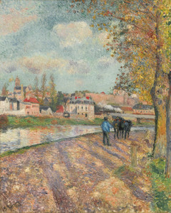 Art Prints of Pathway by the Lock by Camille Pissarro