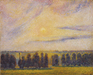 Art Prints of Sunset at Eragny by Camille Pissarro