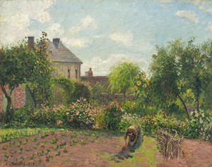 Art Prints of The Artist's Garden at Eragny by Camille Pissarro