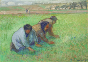 Art Prints of Weeders by Camille Pissarro