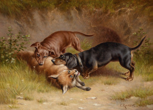 Art Prints of Dachshunds by Carl Reichert