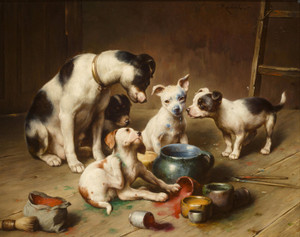 Art Prints of Budding Artists by Carl Reichert