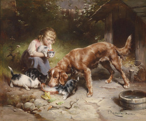 Art Prints of Dinner Party by Carl Reichert