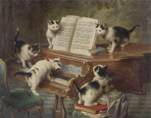 Art Prints of The Kittens Recital by Carl Reichert